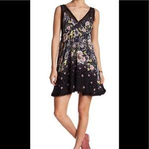 New! Free People Black Floral formal Slip Dress